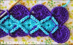 Bavarian Crochet ou Crochê da Baviera. Uma técnica relativamente simples e um efeito magnífico.                                           ...