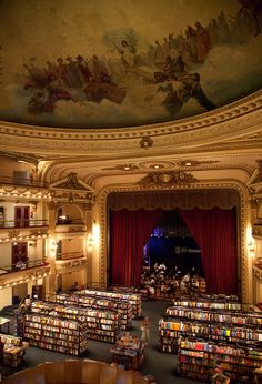 Argentina, Buenos Aires, Old Theatre Ateneo (By Corbis)