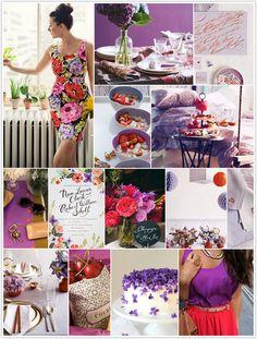 monochromatic monday, cherries + lavender
