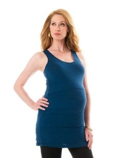 A Pea in the Pod: Sleeveless Scoop Neck Tiered Maternity Tank Top A Pea in the Pod. $29.99