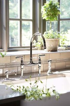 Need this faucet!   Rohl Perrin & Rowe U.4719L-APC-2 Kitchen Faucet Polished Chrome   http://www.poshhaus.com/store/p/9595-Rohl-Perrin-Rowe-U-4719L-APC-2-Kitchen-Faucet-Polished-Chrome.html#.UHszEMU81BA    It is the Perrin and Rowe Faucet from Rohl Home in polished nickel finish. Can be purchased through ProSource Plumbing or Ferguson Plumbing