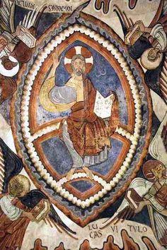 Panteón Real de San Isidoro de León. Pantocrátor con el tetramorfos.