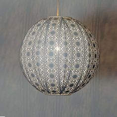 This Cream Circular Ceiling Pendant Is Crafted With Intricate Cut Out Detail Which Inspired From Traditional Moroccan Patterns