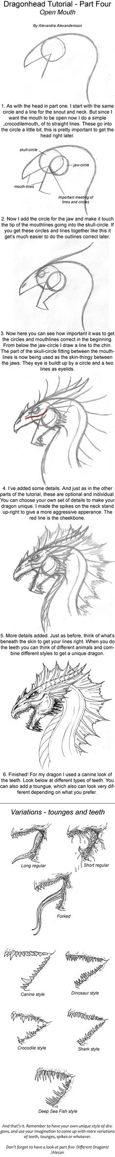 Dragonhead Tutorial part four by *alecan on deviantART