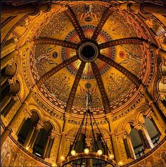 The ornate ceiling of the James A. Garfield Monument at Lakeview Cemetery in Cleveland, Ohio. (Photo by Randall Schieber) See more MIdwest photos at http://www.instagram.com/midwestlivingmag