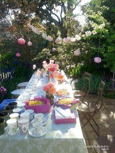 40 cumpleaños, fiesta campestre, tea party  http://www.papermoonandco.com/