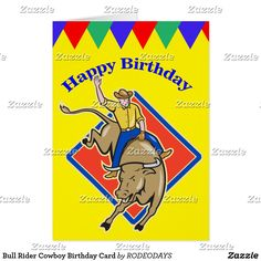 77 best western greeting cards images on pinterest in 2018 bull rider cowboy birthday card m4hsunfo