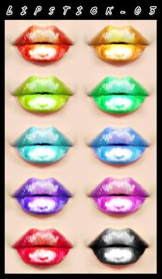 Decay Clown Sims: Lipstick 03 • Sims 4 Downloads