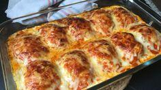 Huevos rellenos de carne gratinados Bechamel, Carne Picada, Spanish Food, Rind, Lasagna, Tapas, Mashed Potatoes, Cooking Recipes, Meals