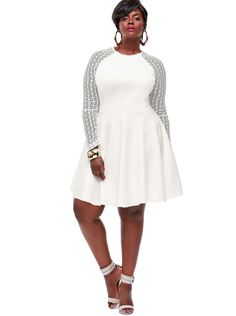 This Spencer Dress is out of this world FLY!! High waist to conceal stomach and flared skirt to enhance hips... 3 color selection