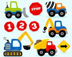 Old truck clipart construction Trendy Ideas Clipart, Construction Signs, Construction Cakes, Old Trucks, Baby Quilts, Kids Rugs, Digital, Projects, Cot Sets