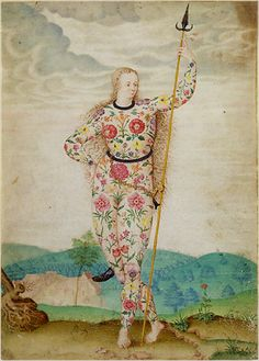 Jacques Le Moyne  de Morgues (c. 1533 – 1588)  Young Daughter  of the Picts, c. 1585