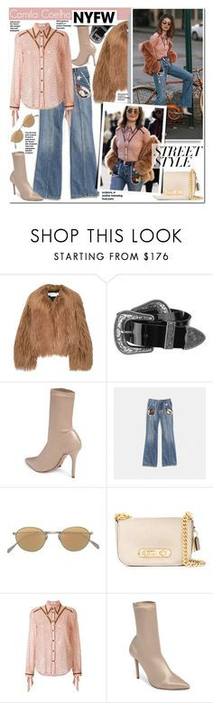 """""""Camila Coehlo"""" by mery90 ❤ liked on Polyvore featuring Marni, B-Low the Belt, Tony Bianco, Oliver Peoples and Coach"""