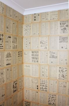 Easy DIY Book Page Wallpaper | House Nerd