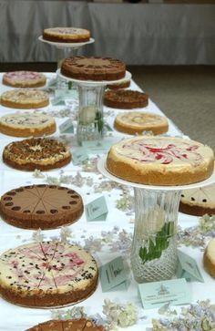 cheesecake bar - 8 Amazing Cheesecake Wedding Cakes & Ideas via EmmalineBride.com