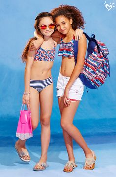 What's red, white & blue and splashy all over? YOU in our swimwear & accessories!