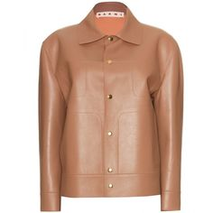 Marni Leather Jacket ($2,389) ❤ liked on Polyvore