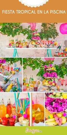 ¿Quieres organizar un festejo en una piscina o jardín? Entonces no te pierdas estos consejos para crear una maravillosa barra de cócteles decorada con una explosión de colores tropicales dignos de una celebración veraniega con tus familiares y amigos.