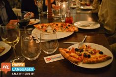 Pizza Tasting and Language Meet Up.
