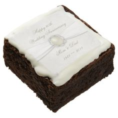 Damask 30th Wedding Anniversary Brownies