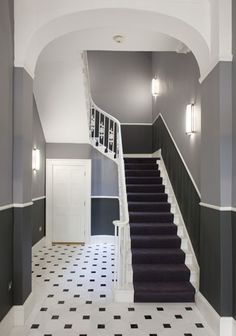 Victorian townhouse entrance