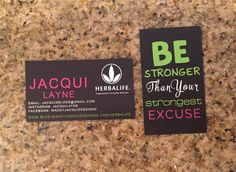 Herbalife Business Cards 1 Herbalife por WackyJacquisDesigns
