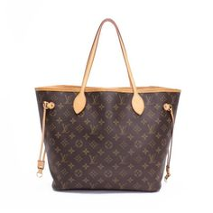 Louis Vuitton Neverfull MM Monogram Totes Brown Canvas M40156