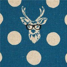 Echino *Buck*, design from Etsuko Furuya's Spring 2012 Decora collection, Kokka fabric