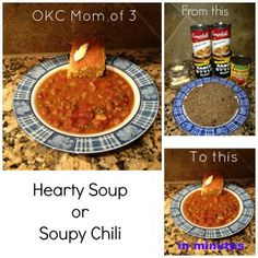 Hearty Soup or Soupy Chili Recipe | #SmallVictoriesSunday #Recipe #Cooking