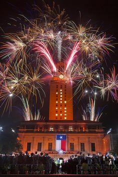 UT Austin Commencement 2013 UT Tower Fireworks