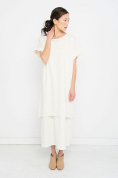 Marlena Midi in Raw Silk Broadcloth – Elizabeth Suzann