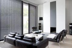 Copahome raamdecoratie verticale jaloezieën zwart / La décoration de fenêtre. Stores à bandes verticales noir