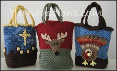 Ravelry: Holiday Gift Bags for Thanksgiving and Christmas pattern by Yarn Twins