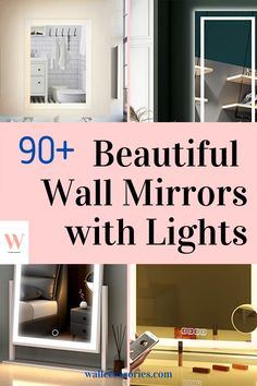 If you are searching for somthing practical and space saving, consider installing a wall mirror with lights. They do not require extra lighting, saves space, and they make you look good! Check out our collection now! Lighted Wall Mirror, Wall Mirrors, Mirror With Lights, Beautiful Wall, Space Saving, Searching, Wall Decor, Lighting, Check