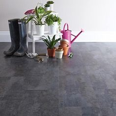 Aqua Tile Vibrant Slate Click Vinyl Flooring Underlay Not Required - To be installed directly onto a smooth solid, flat surface. See the above Installation Guide. Laminate Flooring Prices, Solid Wood Flooring, Underfloor Heating, Warm Grey, Living Room Kitchen, Engineered Wood, Slate, Aqua