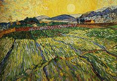 van gogh paysage au lever du soleil huile sur toile