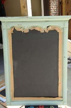Old Dresser mirror to chalkboard tutorial.. Now I know what to do with my giant mirror. :)