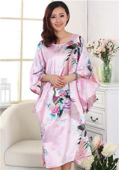 Novelty Green Chinese Women Silk Rayon Robe Loose Lounge Nightgown Kimono  Bath Gown Sleepwear Mujer Pajama Plus Size S0109 0b53f687f