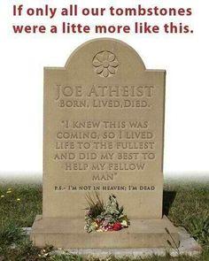 Atheist tombstone.