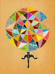 Bill Zindel. Geometric Collages.