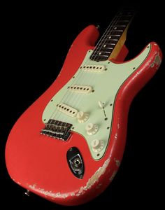 Fender Guitars – Page 7 – Learning Guitar Fender Relic, Fender Custom Shop Stratocaster, Fender Guitars, Guitar Solo, Cool Guitar, Red Electric Guitar, Guitar Inlay, Learn Guitar Chords, Guitar Photography