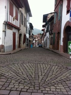 St.-Jean-Pied-de-Port, traditional start of el Camino de Santiago de Compostela in France