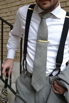Suspenders? YES, besides the classic chivalrous appearance...functionality in this case breeds style.
