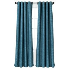 """Threshold™ Uptown Stripe Light Block Window Panel, $35 for each 95"""" length panel.  The navy blue is great looking."""