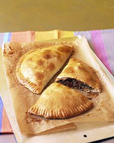 Beef empanadas..Martha Stewart's recipe makes waay too much filling for the amount of wrapper dough. :(