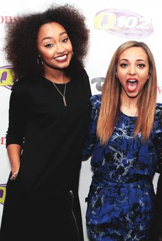 Leigh Anne & Jade. Jade's straight hair is AWESOME here.