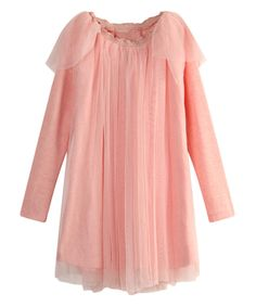 Look at this Pink Tulle Overlay Dress - Toddler & Girls on #zulily today!