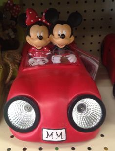 Mickey and Minnie taking a ride