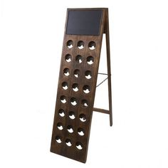 24 Bottle Found Wine Riddling Rack $595 #vintage #bambeco