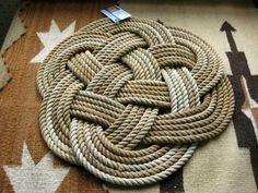 celtic knot rugs. i do love celtic knots  and this is a wonderful example  knotted rug from  raggin 2 ruggin #RopeRugs